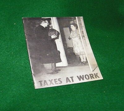 vintage book on tax ~~ TAXES AT WORK 1955