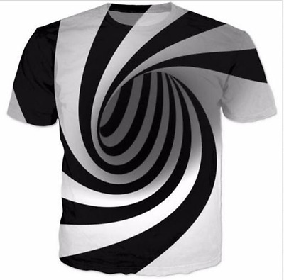 New Fashion Womens/Mens Hypnosis Funny 3D Print Casual T-Shirt