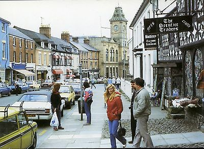 High Street Welshpool Animated Street Scene Cars People Shops