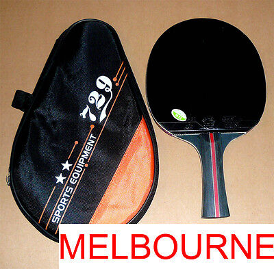 High Level RITC729 Pro Table Tennis Bat with Case: Black Whirlwind, Melbourne