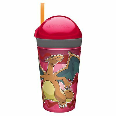 Pokemon Charizard 2 In 1 Snack & Drink Tumbler With Straw New Go Gift Cup