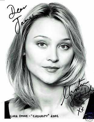 Christine Stephen-Daly Actress Sarah Casualty Hand signed Photograph 10 x 8
