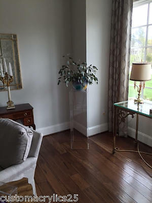"""Hancrafted Clear Acrylic Pedestal/Column - 12"""" square x 18"""" high - 1/2"""" thick"""