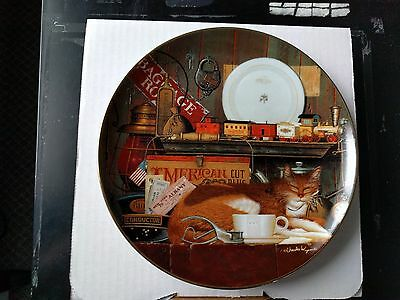 """""""Casey the Conductor"""" Purr-fect Places Collector Plate (Artist: Charles Wysocki)"""