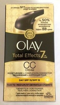 Olay Total Effects 7-in-1 CC Cream Fair to Medium 50 ml UK + Foreign Text