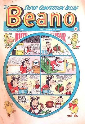 BEANO - 9th APRIL 1966 - EASTER ISSUE !! RARE 51st BIRTHDAY GIFT !! VGC...beezer