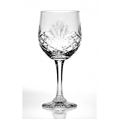 Red Wine Goblet Large 240g Fully Cut 24% Lead Crystal  Zawiercie Gift Boxed108MJ
