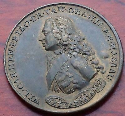 """Germany, Frederick of Prussia, """"Protestant Defender 1757"""", bronze, 36mm., Fair"""
