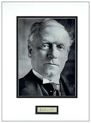 Herbert Henry Asquith Autograph Signed Display  AFTAL  UACC RD