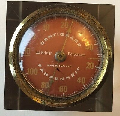 Paperweight Thermometer Centigrade And Fahrenheit Vintage Antique Melbray Group