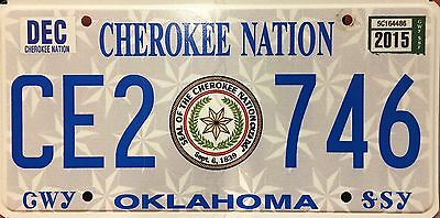 Oklahoma 'Cherokee Nation' Indian Native American License Plate (CE2746)