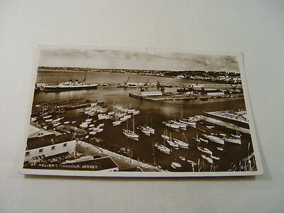TOP12593 - Real Photo Postcard - St Helier's Harbour, Jersey 1952