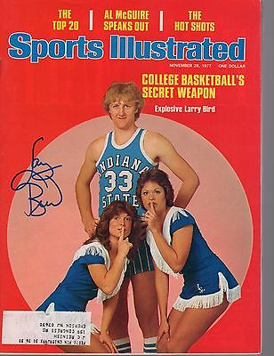 LARRY BIRD AUTHENTIC SIGNED 1st EVER SPORTS ILLUSTRATED COVER   RARE     JSA COA