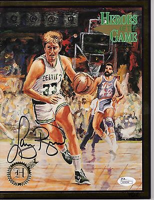 Larry Bird Authentic Signed Heroes Of The Game Magazine  49/240   Rare   Jsa Coa