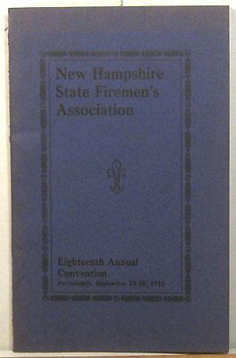 1915 New Hampshire Firemen's Association convention proceedings