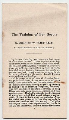 Charles W. Eliot (Harvard), The Training of a Boy Scout, 1913
