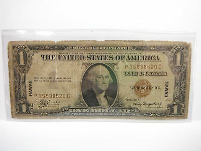 Hawaii Silver Certificate, WW2, 1935-A,  $1 Brown seal,  Free Combined Shipping