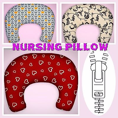 Breast Feeding Pillow Nursing Maternity Baby Pregnancy + Removable Cotton Cover