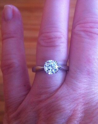 MICHAEL VALITUTTI STERLING SILVER CZ 925 NH ENGAGEMENT RING SIZE 6 solitaire