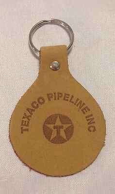 Vintage leather Texaco Pipeline Inc Gasoline advertising keychain