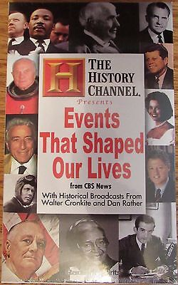 The History Channel Events That Shaped Our Lives CBS News new audio cassettes