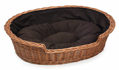 Large Wicker Dog Bed Basket FREE DELIVERY