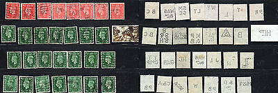 Perfins From Great Britain, Fronts And Backs Shown...2-21-17