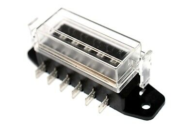 Standard Blade Fuse Holder 6 Way Side Entry Electrical Box Car Van Auto
