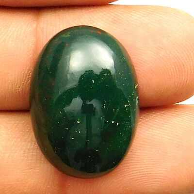 21.75 cts Natural Untreated Beautiful Bloodstone Gemstone Oval Loose Cabochon