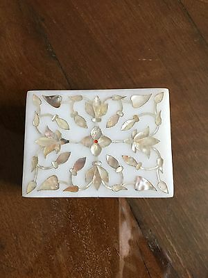 Vintage Marble And Mother Of Pearl Box