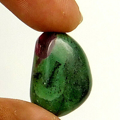 27.10 cts Natural Untreated Ruby Zoisite Gemstone Fancy Shape Loose Cabochon