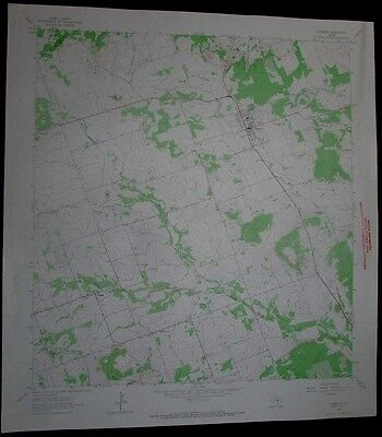 Florence Texas vintage 1966 old USGS Topo chart