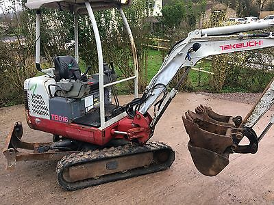 Takeuchi TB016 Mini Digger 2006 NO VAT