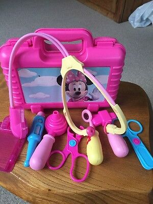 Disney Minnie Mouse Doctor / Nurse Play Set With Carry Case