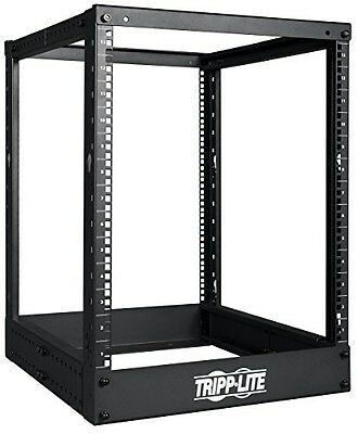 Tripp Lite 13U 4-Post Open Frame Rack Cabinet Square Holes 1000Lb Capacity - Ope