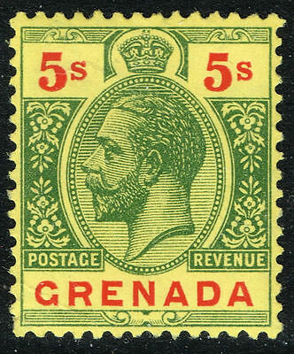 SG 100 GRENADA 1913 - 5s GREEN & RED/YELLOW - MOUNTED MINT