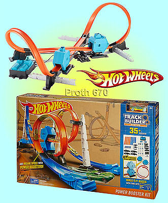 Hot Wheels Track Builder System - Power Booster Kit - Create 4 Different Layouts