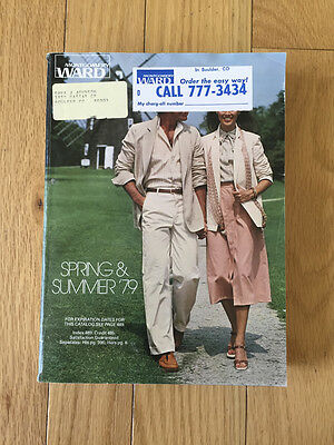 Vintage Montgomery Ward Spring Summer 1979 Catalog Clothing Furnishings Home