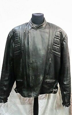"Mens Belstaff Leather Motorcycle Jacket Size 52 "" Chest"