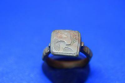 19 Roman billon ring with decorations on bezel 19mm Perfect !!!!!