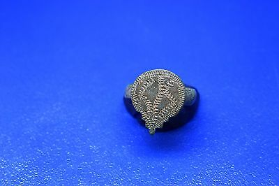 18 Roman billon ring with decorations on bezel  18mm perfect!!!!!