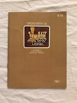 1981 GROW WITH US Lionel Electric Train Catalog