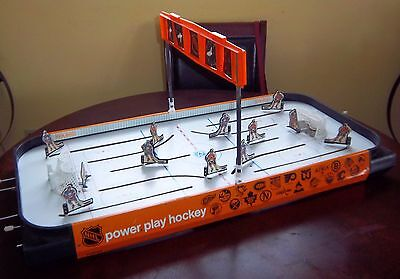 Coleco / Power Play Table Top Hockey Game 1980's orange sides