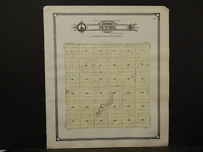 North Dakota Ramsey County Map,  Newbre Township 1909  K7#33