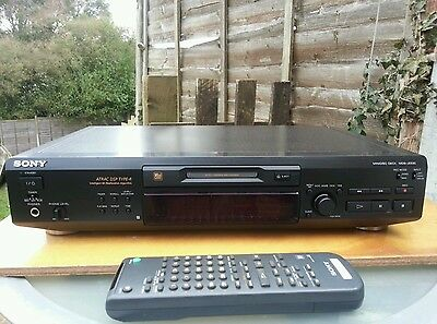 Sony Mds-Je530 Mini Disc Recorder With Remote Control Very Good Condition