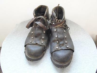 Antique Ww1 German Army Mountain Troops Mountaineering Climbing Boots Shoes