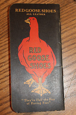 Vintage Red Goose Shoes Memo Book / Advertising / Sign.....friedman Shelby Shoes