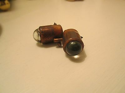 """Vintage Copper """"cats eyes"""" for Road Use"""