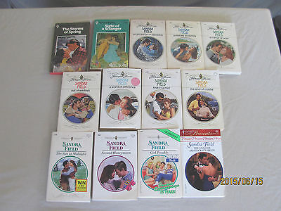 Sandra Field– Harlequin Romances/presents... Book - Lot Of 14 Paperback Books