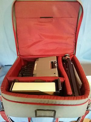 "Vintage Stenograph Machine ""Merit Writer"" with Carry Case, Tripod and Paper"